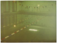 Green Pool (Suburbia) - analog, photograph, 21st Century, Interior, Polaroid