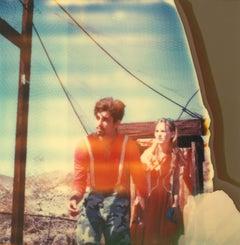 Haley and the Bird Man (Haley and the Birds) - Polaroid, 21st Century, analog