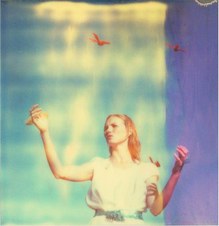 Stefanie Schneider Color Photograph - Haley and the Birds - 29 Palms, CA - based on a Polaroid Original