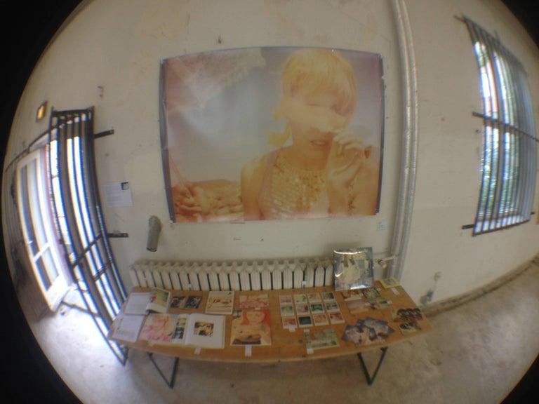 Heather's Dream - Contemporary, Portrait, Women, Polaroid, 21st Century, Color  - Beige Portrait Photograph by Stefanie Schneider