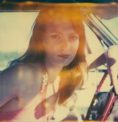 Her Eyes, the Color of the Sky - Contemporary, 21st Century, Polaroid