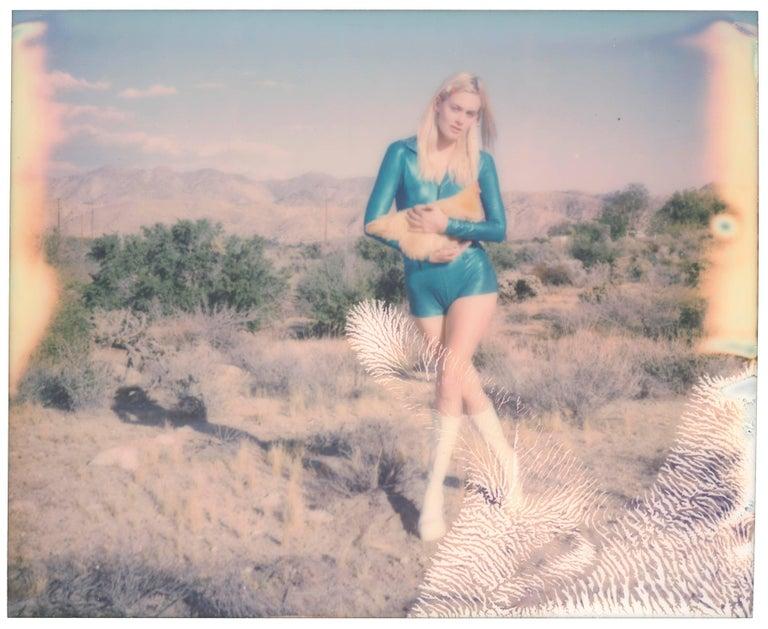 Stefanie Schneider Portrait Photograph - Holding on Tight (Chicks and Chicks) - Contemporary, Chicken, Polaroid, Women