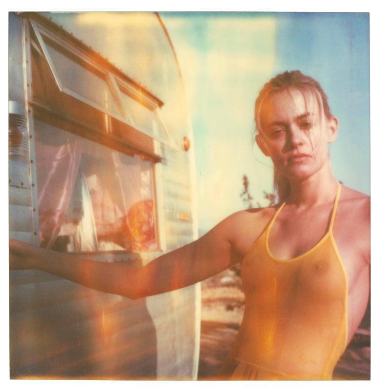 Stefanie Schneider Portrait Photograph - Impregnable (Heavenly Falls) - Polaroid, Contemporary, 21st Century, Women