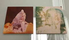 In front of Trailer (Sidewinder), diptych - Polaroid, Nude, Contemporary, Analog