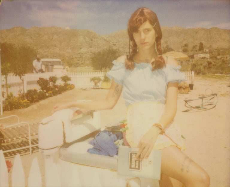 Stefanie Schneider Portrait Photograph - Incitement and Confirmation - The Girl behind the White Picket Fence