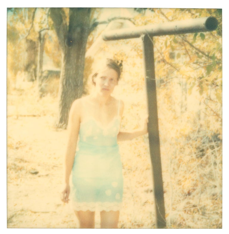 Stefanie Schneider Portrait Photograph - Inclined (Wastelands) - Polaroid, Expired. Contemporary, Color