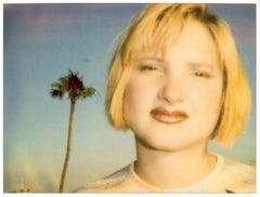 Kirsten Red Lips (California Blue Screen) - mounted, analog