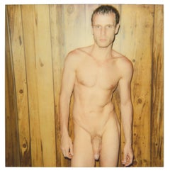 Male Nude from the 29 Palms, CA series - Polaroid, 20th Century, Color