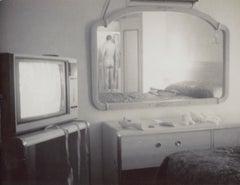 Male Nude in Motel II (29 Palms, CA) Unique Polaroid - Contemporary