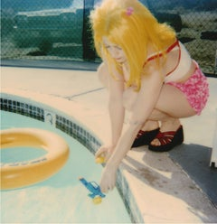 Max by the Pool (29 Palms, CA) - Polaroid, Contemporary, Women, Color