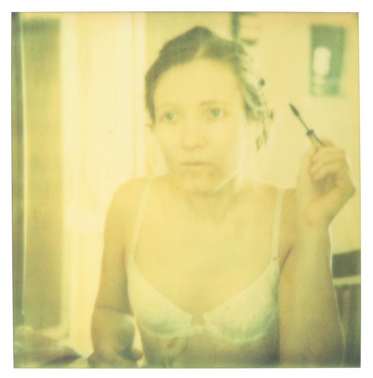 Stefanie Schneider Color Photograph - Mirrored (Memories of Green) - based on a Polaroid, Women, Contemporary