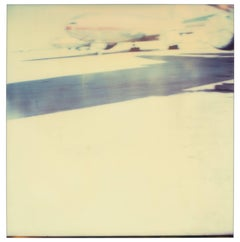 Mojave Airfields - Contemporary, Landscape, Polaroid, Expired, Photograph