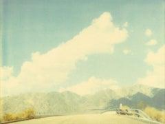 Mountain Ridge - Contemporary, Landscape, Polaroid, Photograph, Analog, Expired