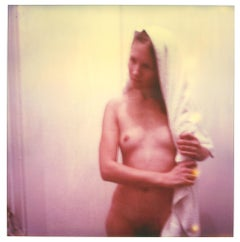 Nude in Pink (Strange Love) - analog, Polaroid, expired, Contemporary, Color