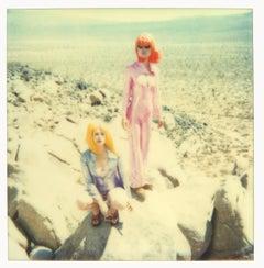 On the Rocks - Contemporary, Figurative, Woman, Polaroid, Photograph, Landscape