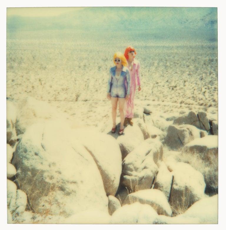 Stefanie Schneider Portrait Photograph - On the Rocks (Long Way Home), analog, mounted, 58x57cm, Edition 2/10