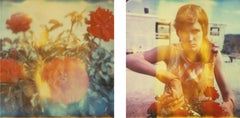 One Day I'll leave (The Girl behind the White Picket Fence) diptych - Polaroid
