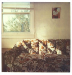 Orange Flowered Couch (29 Palms, CA) - Polaroid, Contemporary
