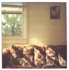 Orange Flowered Couch at Sunset (29 Palms, CA) - Polaroid, Contemporary