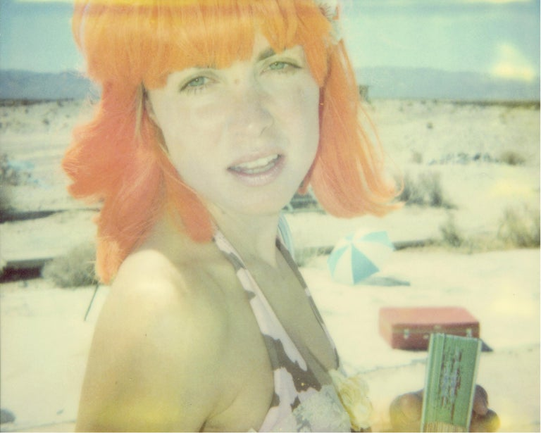 Stefanie Schneider Color Photograph - Oxana (Stage of Consciousness) - part of the 29 Palms, CA project - Polaroid