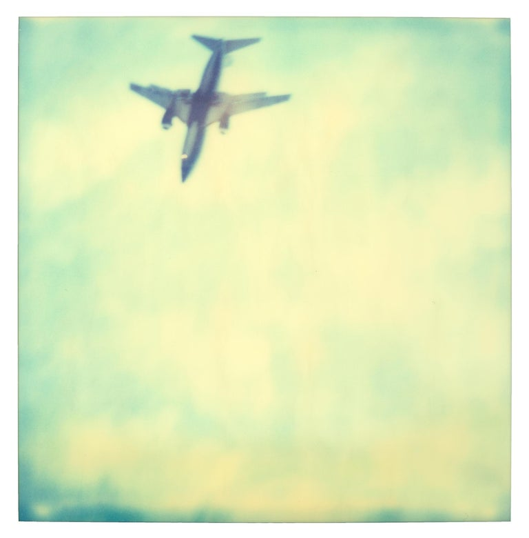 Planes (Stranger than Paradise) 6 pieces - 119x180cm, Polaroid, 20th Century - Yellow Color Photograph by Stefanie Schneider