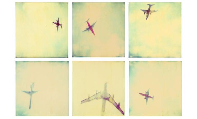 Stefanie Schneider Color Photograph - Planes (Stranger than Paradise) 6 pieces - 119x180cm, Polaroid, 20th Century