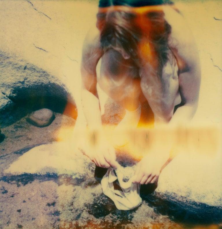 Stefanie Schneider Figurative Photograph - Planet of the Apes XI  - Polaroid, Color, Nude, Men, Contemporary