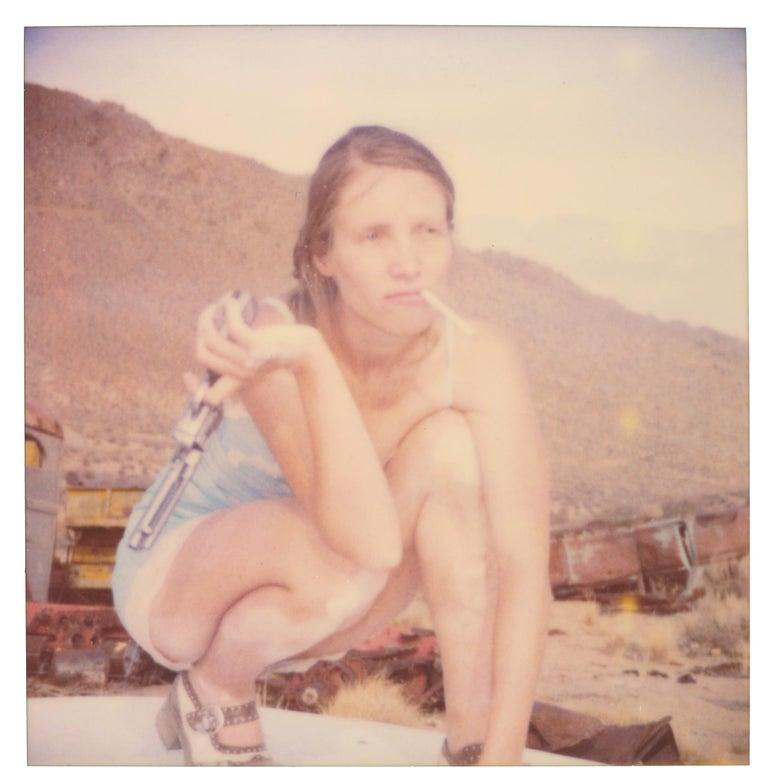 Stefanie Schneider Portrait Photograph - Posing I (Wastelands) - Polaroid, Expired. Contemporary, Color