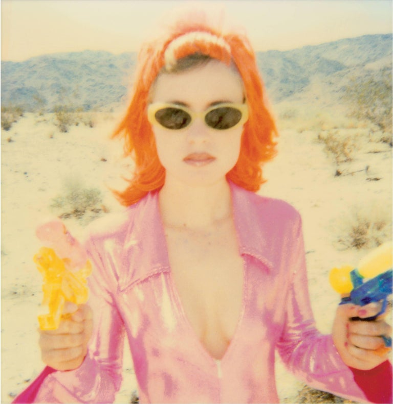 Stefanie Schneider Portrait Photograph - Radha Shooting II (Long Way Home) - 21st Century, Polaroid, Pop-art, Color