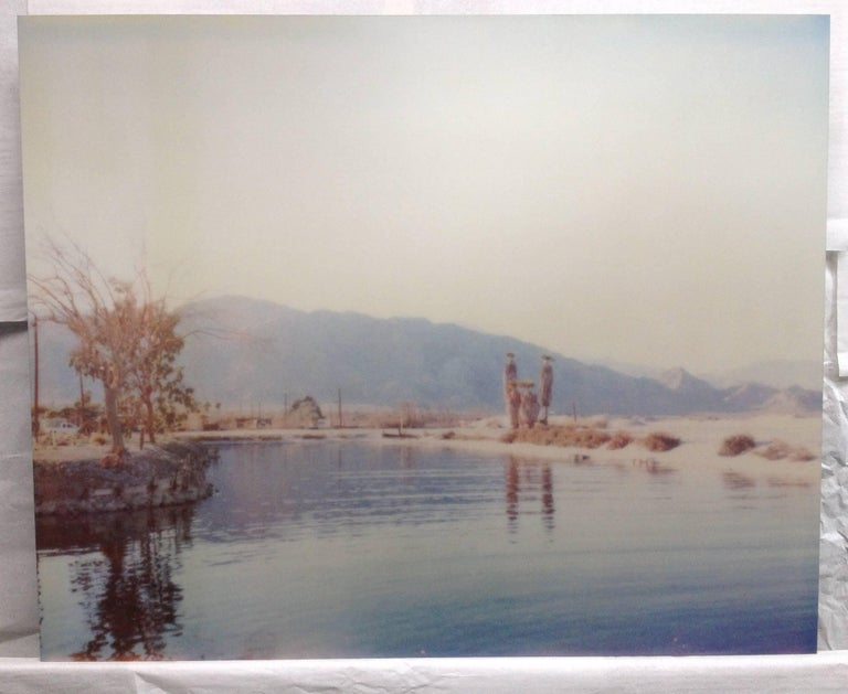 Salt'n Sea - analog, mounted, based on a Polaroid, 21st Century, Contemporary - Photograph by Stefanie Schneider