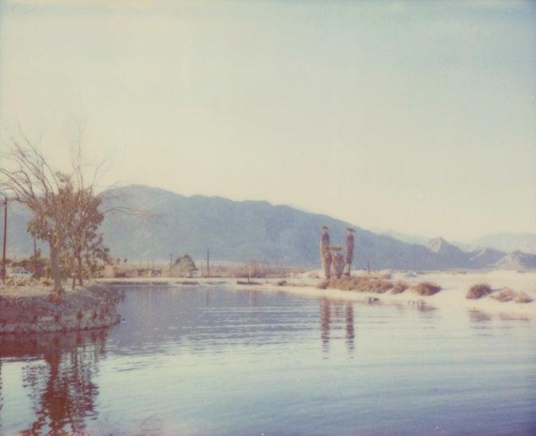 Stefanie Schneider Landscape Photograph - Salt'n Sea - analog, mounted, based on a Polaroid, 21st Century, Contemporary