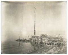 Salton Sea Harbour (California Badlands) - Polaroid, Contemporary, Landscape
