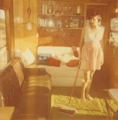 Sisyphus (The Girl behind the White Picket Fence) - Polaroid, Contemporary
