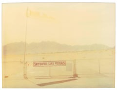 Skydive (Vegas) - Polaroid, analog, Contemporary, 20th Century, Landscape