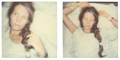 Sleep (Burned) diptych - Polaroid, Contemporary, 21st Century, Portrait