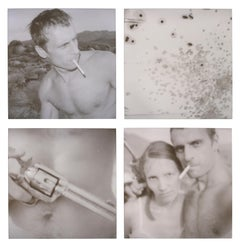 Snap–15 Minutes of Fame (Wastelands) - analog, mounted, Polaroid, Contemporary