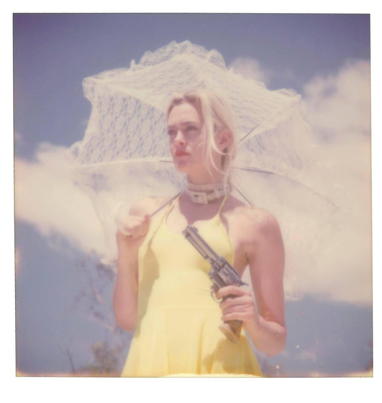 Stefanie Schneider Color Photograph - Solitaire (Heavenly Falls) - 21st Century, Polaroid, Figurative Photography
