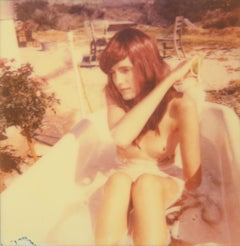The Girl IV (The Girl behind the White Picket Fence) - Contemporary, Polaroid