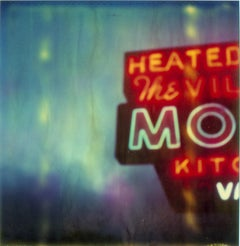 The Village Motel Blue (The Last Picture Show), analog, mounted