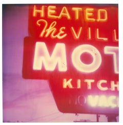 The Village Motel Sunset (The Last Picture Show), analog, mounted
