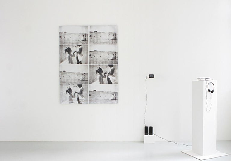 Stefanie Schneider Black and White Photograph - Till Death Do Us Part, Installation - 21st Century, Polaroid, Women, Photography