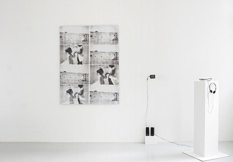 Stefanie Schneider Black and White Photograph - Till Death Do Us Part, Installation