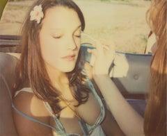 Touching - Contemporary, 21st Century, Polaroid, Figurative, Photograph, Woman