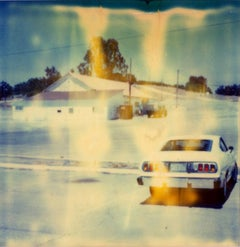 Untitled (Last Picture Show) - mounted, analog, Polaroid, Contemporary, Color