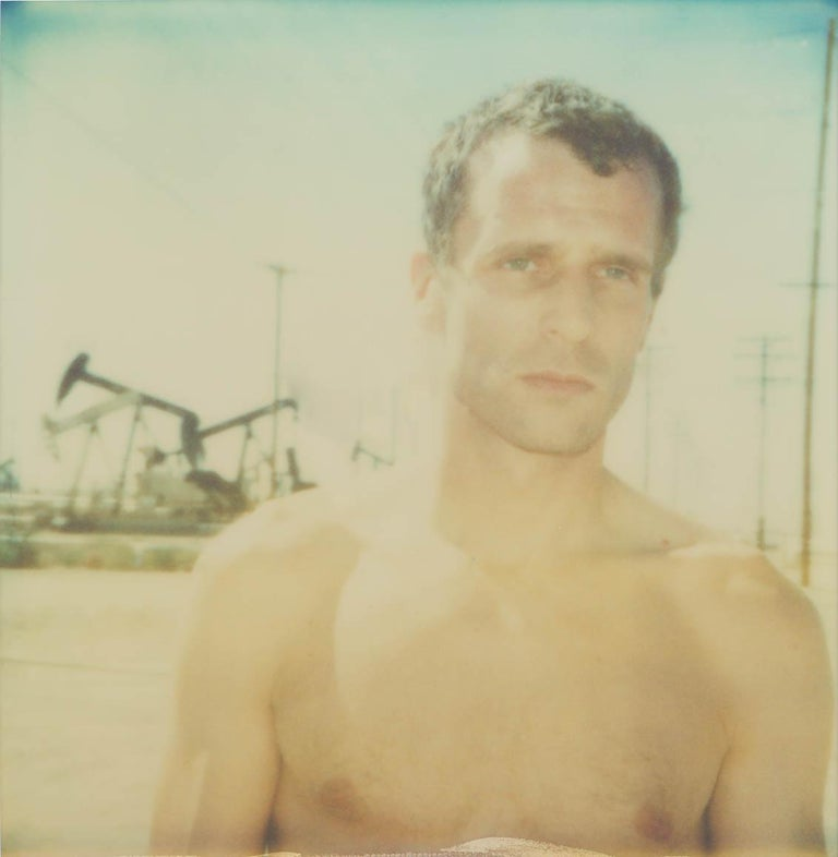 'Untitled' (Oilfields) 2004, 60x60cm, Edition 4/10, Analog C-Print, based on a Polaroid Certificate and Signature label, artist Inventory No. 1220.04 unmounted  OILFIELDS, 2004  Oilfields connotes both the notion of the frontier and the adventurous