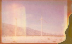 Wind Power (California Badlands) - Polaroid, Contemporary, Desert, Dream
