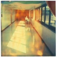 Wheel Chair Corridor (Burned) - Polaroid, Contemporary, 21st Century, Portrait