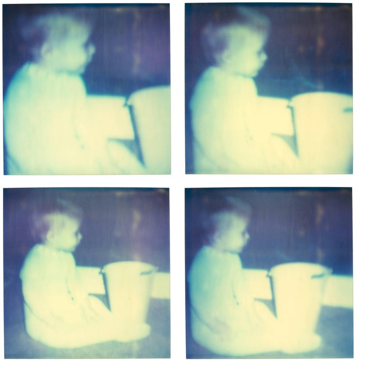Stefanie Schneider Figurative Photograph - White Plastic Bucket - Stay - with Ryan Gosling - from his Memory Sequence