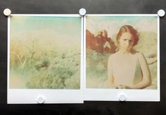 Wind Swep (Wastelands) - diptych, Contemporary, Figurative, Polaroid, analog