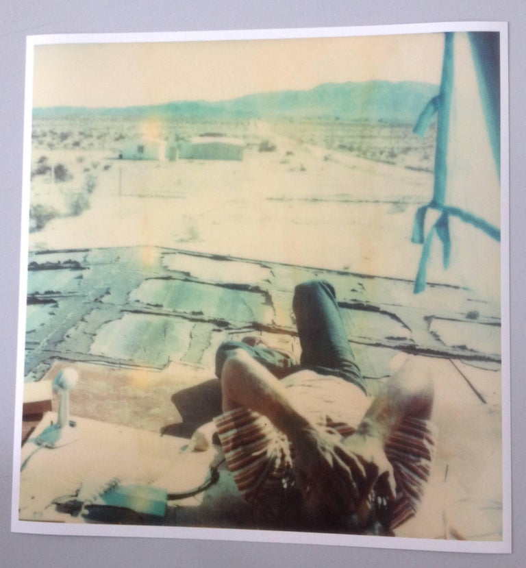 Wonder Valley View, 21st Century, Polaroid, Figurative Photography, Contemporary - Beige Color Photograph by Stefanie Schneider